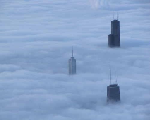 fog blankets chicago