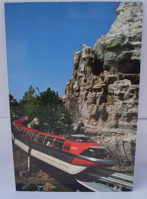 "Vintage Postcard ""Disneyland - Monorail"""