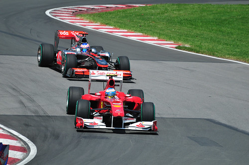 Formation Lap - Alonso, Button (2010 Canada GP)