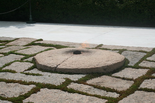 Eternal flame on Kennedy's grave