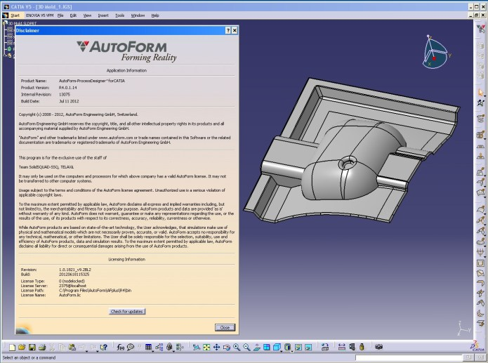 Design with AutoForm^Plus R4 in CATIA full