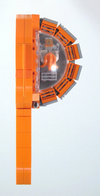 MOC-022 LEGO P Spaceship - Top