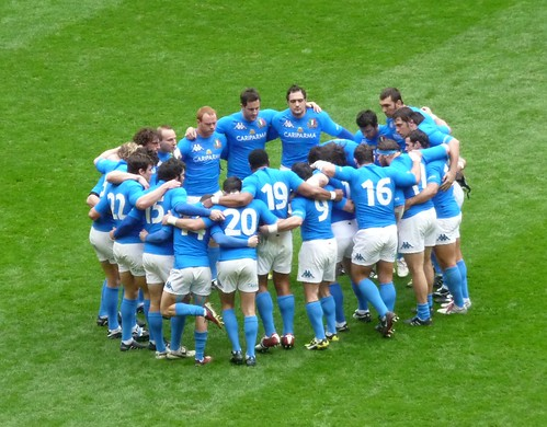 Italy Pre-Match Huddle