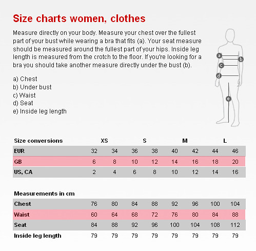 H And M Size Chart Arenda Stroy