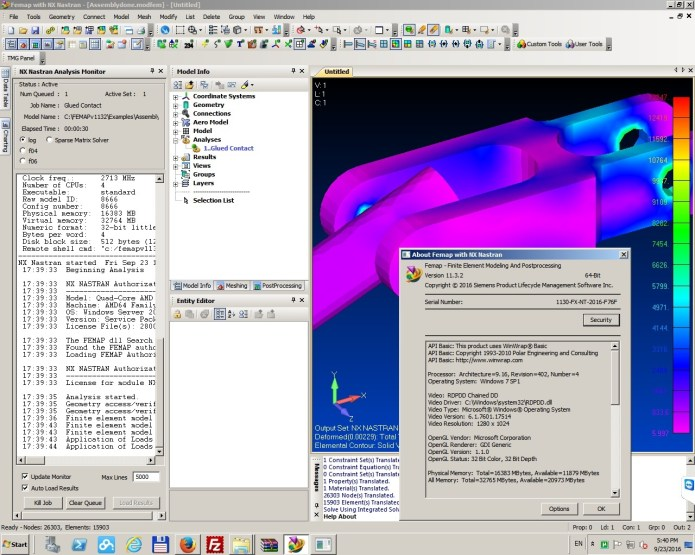 Working with Siemens FEMAP v11.3.2 with NX Nastran 64bit full