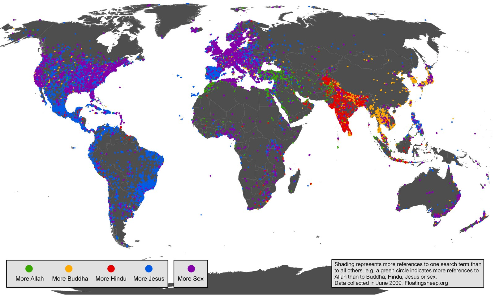 Mapping Religion in Online Realms or Maps of Irreverence that