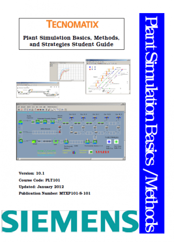 Tecnomatix Plant Simulation basics methods and strategies student guide + Code