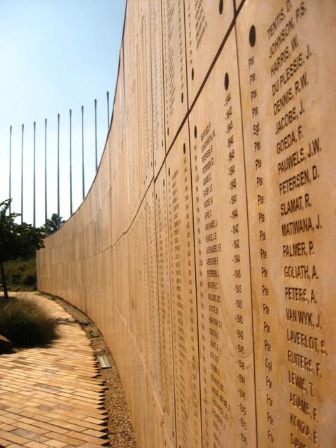 Wall of Names in Freedom Park