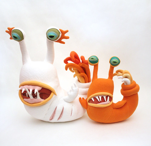 White Nautislugious & Orange Nautislugious Jr.