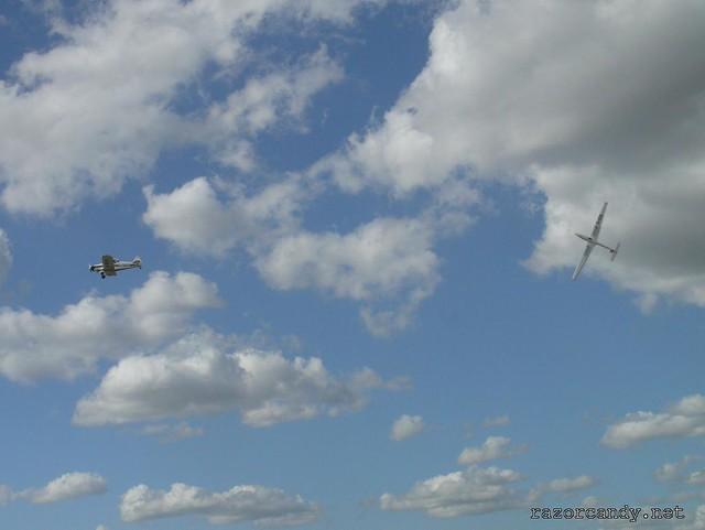 10 P1080773 the swift team MORGAN SWIFT S-1 {G-IZII} + PIPER PA-25 PAWNEE {G-BDPJ}   _ City Airport - 2008 (5th July)
