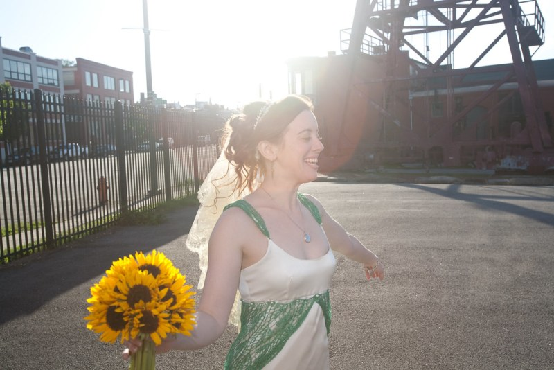Happy, spinny bride
