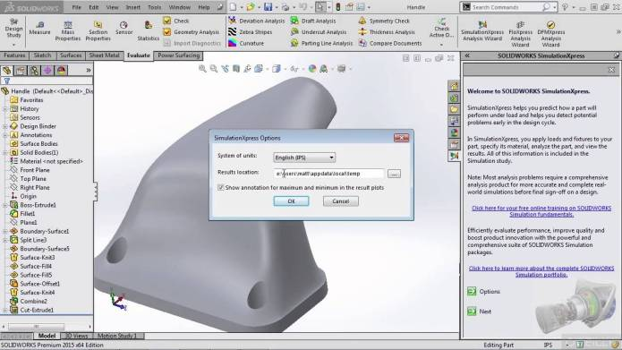 Learning Simulation Xpress and Flow Xpress in SolidWorks Training Video