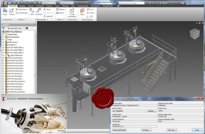 Design with Autodesk Inventor Professional 2014 Service Pack 1 Update 3