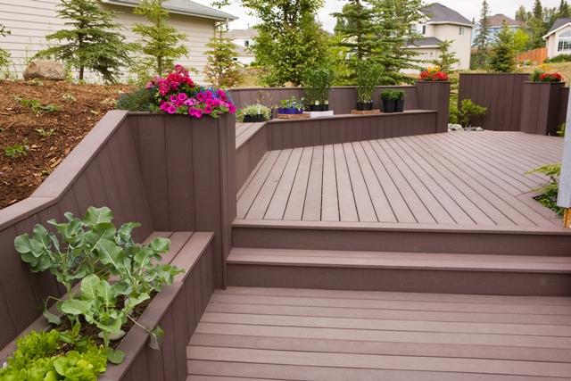 Deck design ideas trex cedar hardwood Alaskan0107