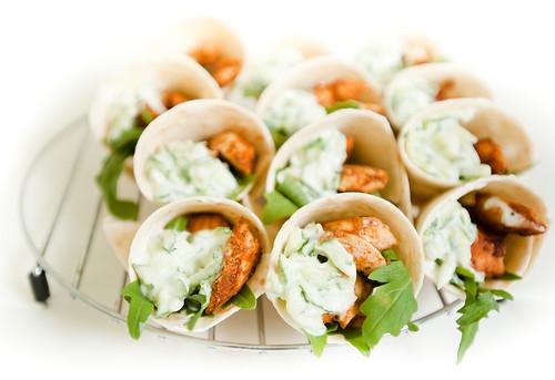Tandoori chicken hand wraps