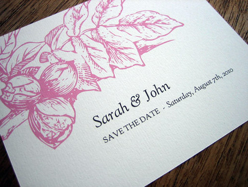 Printable Wedding Save The Date - Floral