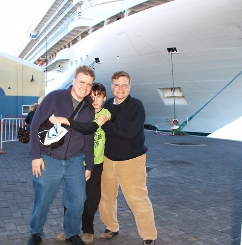 Matthew, Alex and Jim with the Grand Princess