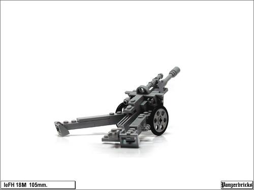 leFH 18M 105mm. de Panzerbricks