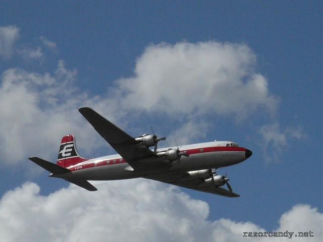 9 P1080568 British Eagle Douglas DC-6 {G-APSA} _ City Airport - 2008 (5th July)