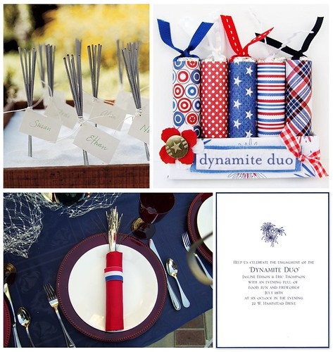 Dynamite Duo: A Firecracker Engagment Party (Day) by finestationery