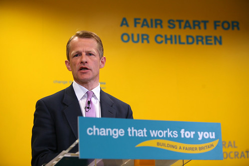 Election 2010 Day 16 - Nick Clegg & David Laws launch 'A Fair start for Children' by Liberal Democrats