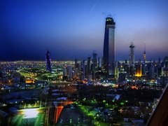 Kuwait City from a-high