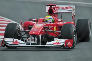 Felipe Massa's Ferrari F10 in the Senna Corner (Montreal)