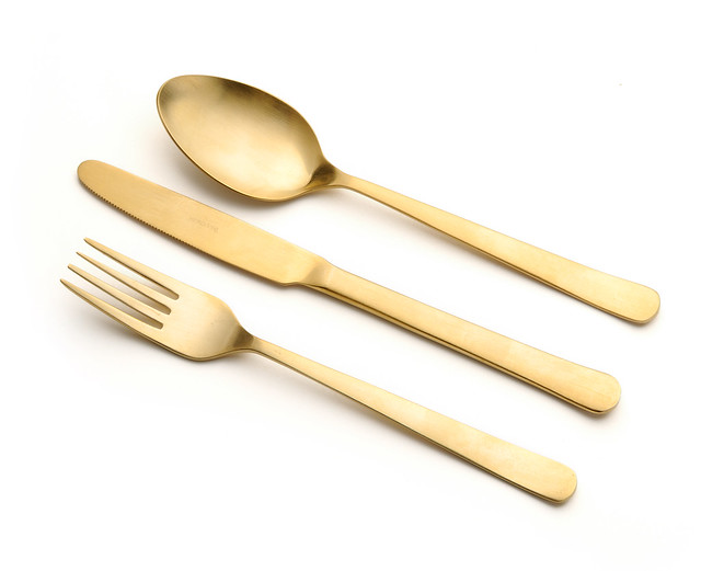 FORK KNIFE SPOON gold Flickr Photo Sharing!