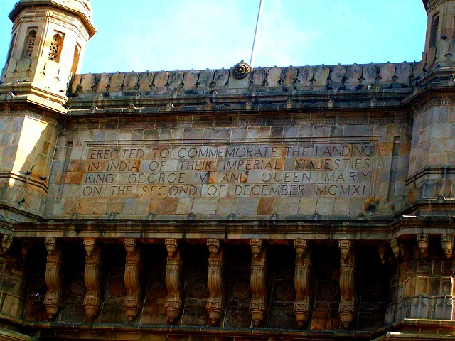 Script written on Gateway of India