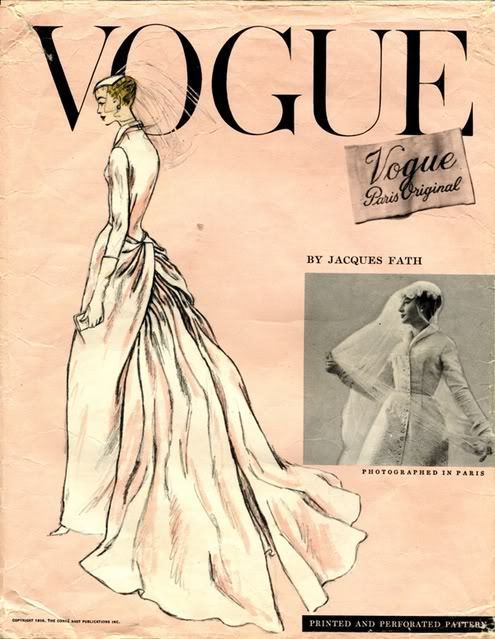 1950s Jacques Fath bridal pattern - Vogue 1331