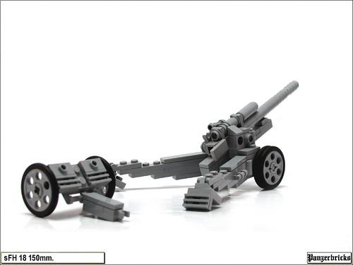 sFH 18 de 150mm. de Panzerbricks