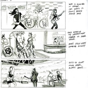 cinematic storyboard concept