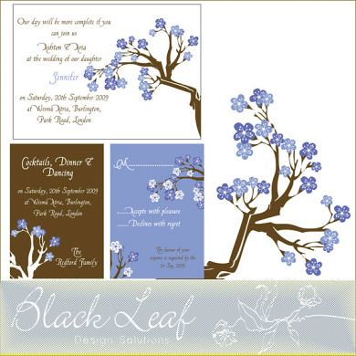 Plumbloom Powder Blue Card Set