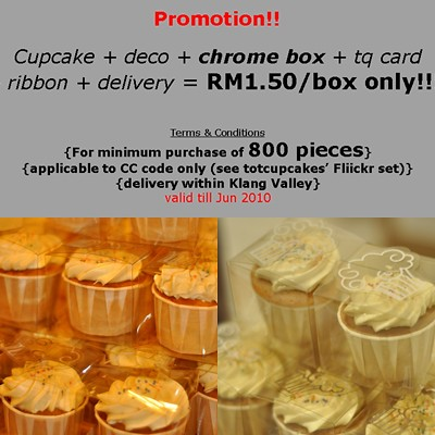 Promotion Cupcake Decoboxtq CardribbondeliveryRM1