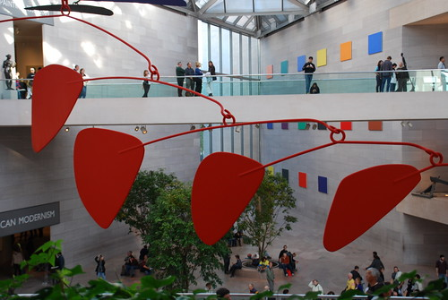National Gallery of Art's East Building and Calder Mobile