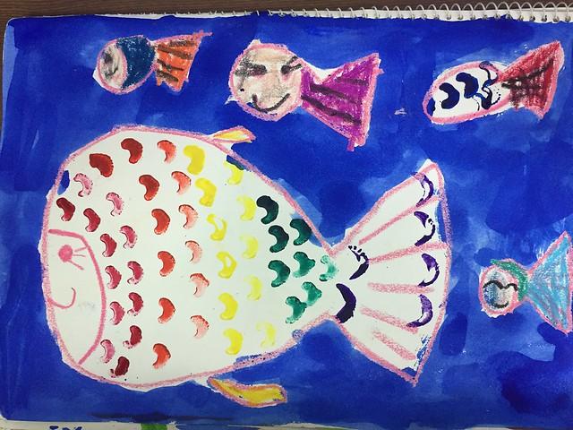 샐러리 무지개 물고기