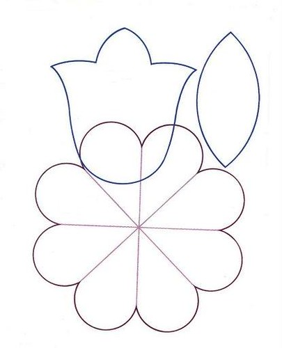Dibujos De Flores De 5 Petalos Para Colorear