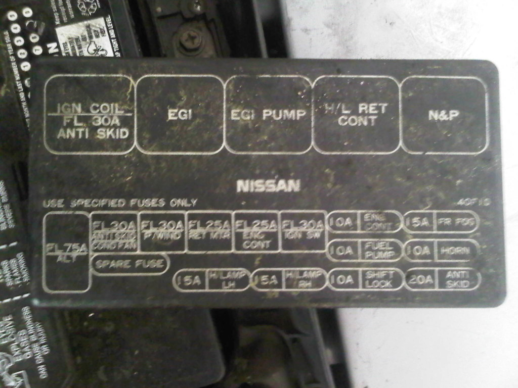 hight resolution of 89 90 91 92 93 94 nissan 240sx oem interior fuse box cover gray rh ifitdontshineitaintmine