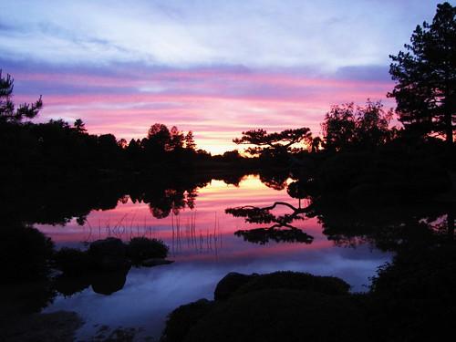 Sunset from the Japanese Garden III