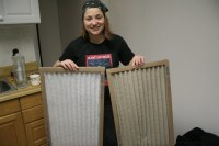 Clean and Dirty Furnace Filters | Flickr - Photo Sharing!