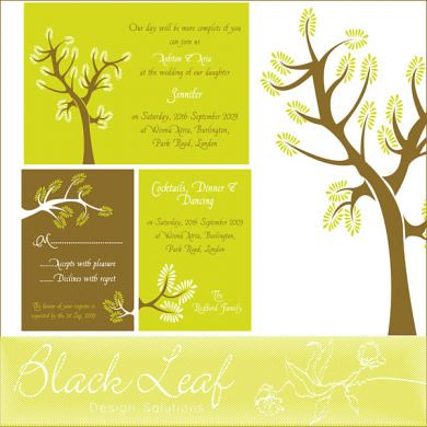 Spring Tree Card Set