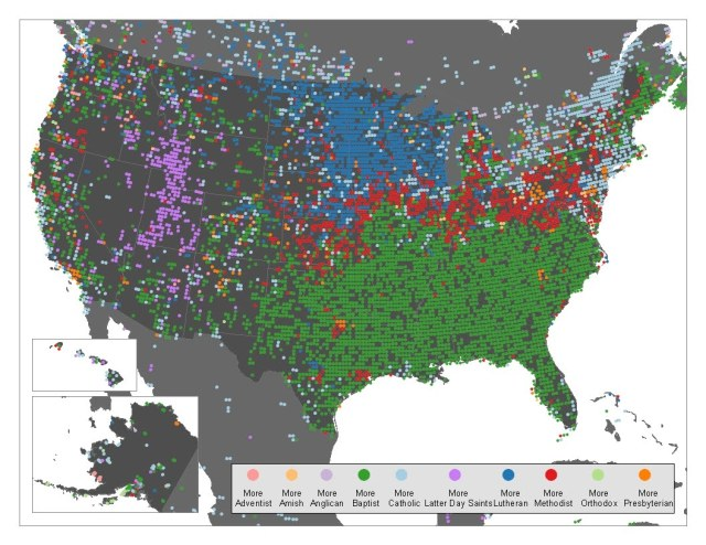 Mapping Religion In Online Realms Or Maps Of Irreverence That - Us catholic map
