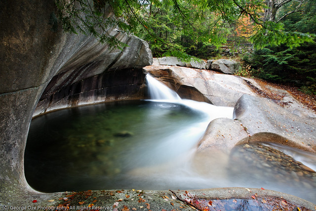 Fall Colors Mobile Wallpaper Granite Pool At The Basin Franconia Notch State Park New