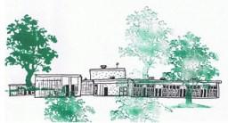 Trees grace an elementary school. Art by Kimberly Wilder