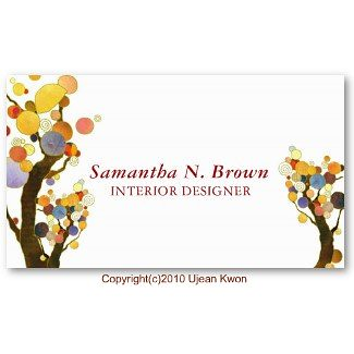 Whimsical Trees: Custom Business Cards