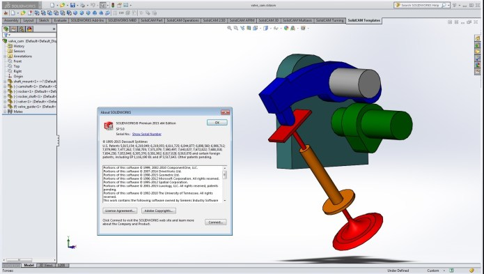 Design with SolidWorks 2015 SP5.0 64bit full license