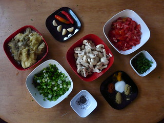 Eggplant Mushroom Curry Ingredients