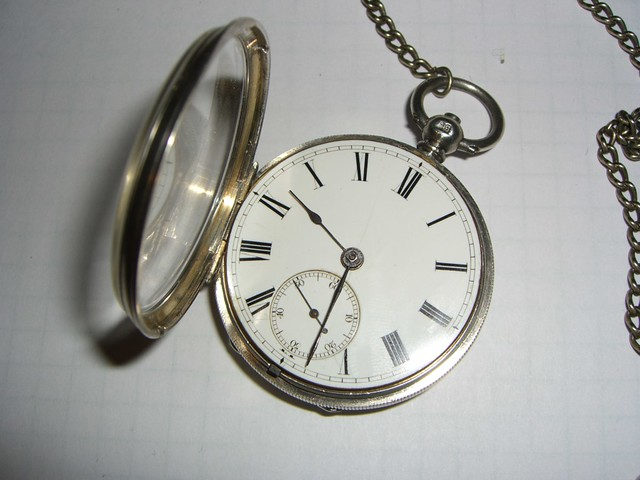 1873 Pocket Watch - face view with open crystal