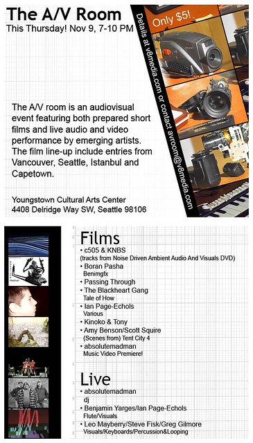 The A/V Room Poster (vertical)