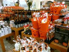 Halloween display at Harrod's